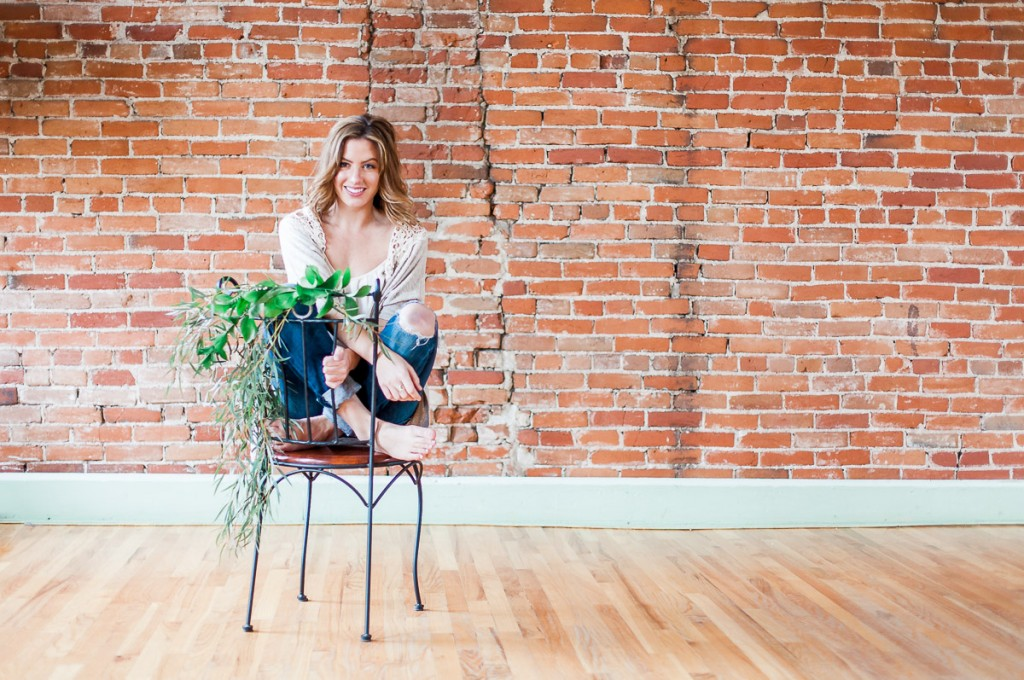 Floral chair in fort collins studio by wyoming photographer.