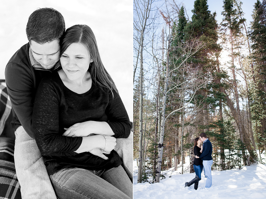 Happy Jack Winter Engagement Session by Wyoming Wedding Photographer, Megan Lee Photography.