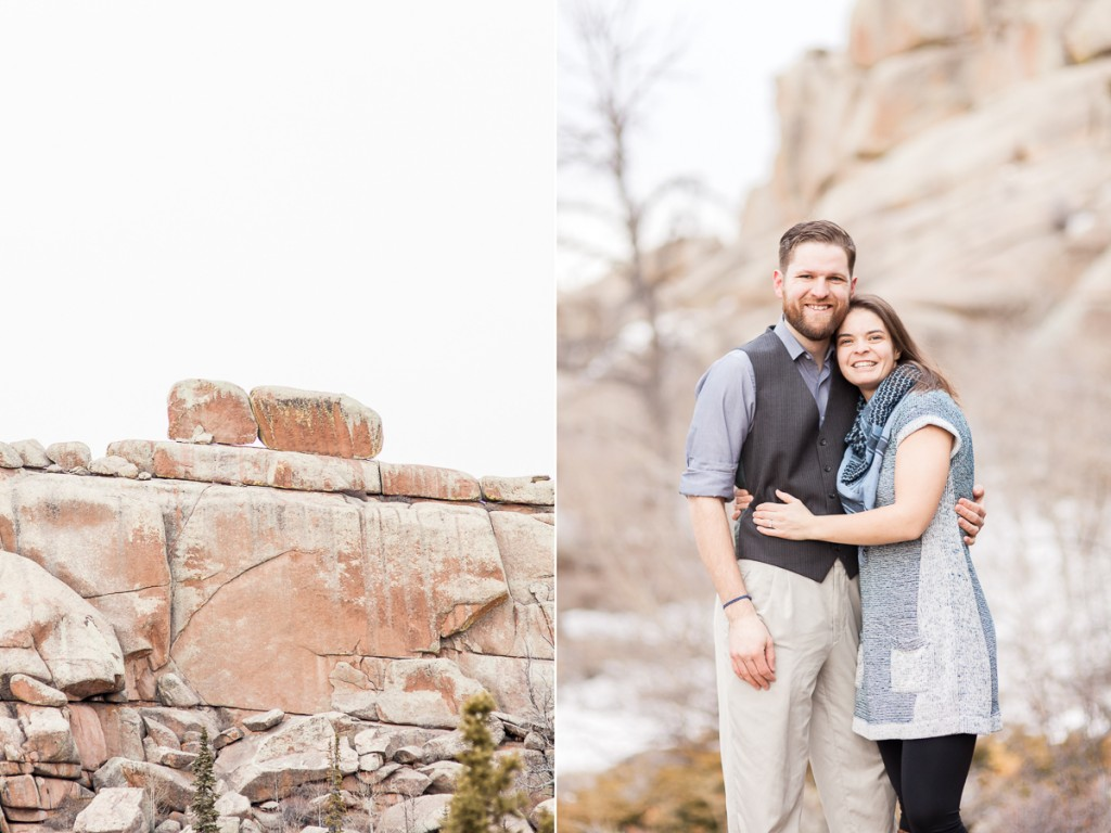 Romantic engagement photography in Wyoming
