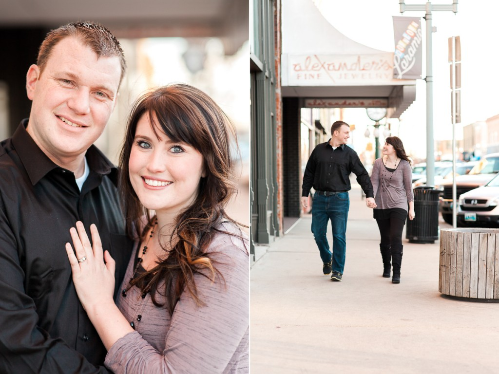 Downtown Laramie Wyoming Engagement Photography By Megan Lee