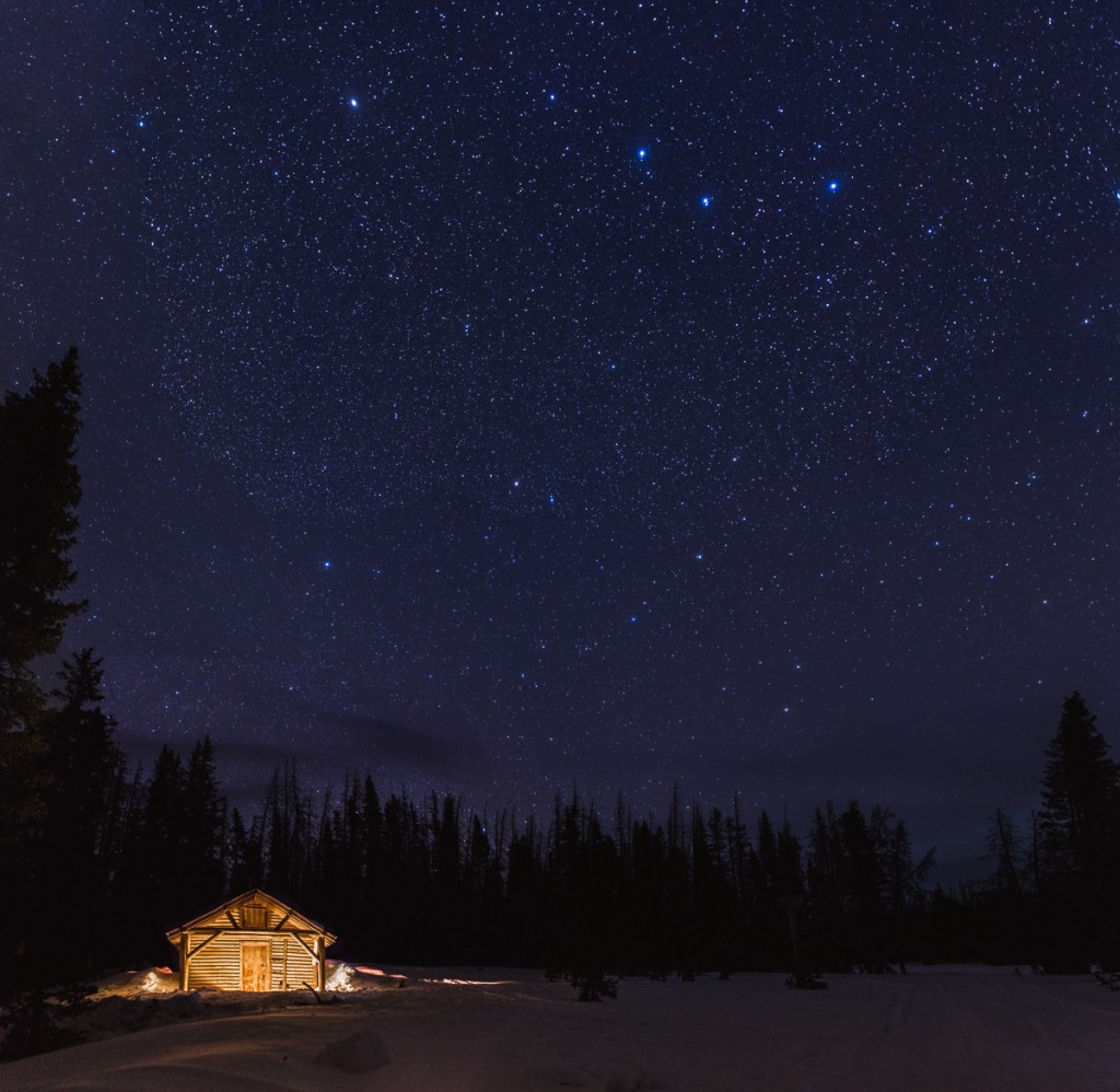 Wyoming Shooting Stars: Snowy Range Mountains, Snow Survey Cabin