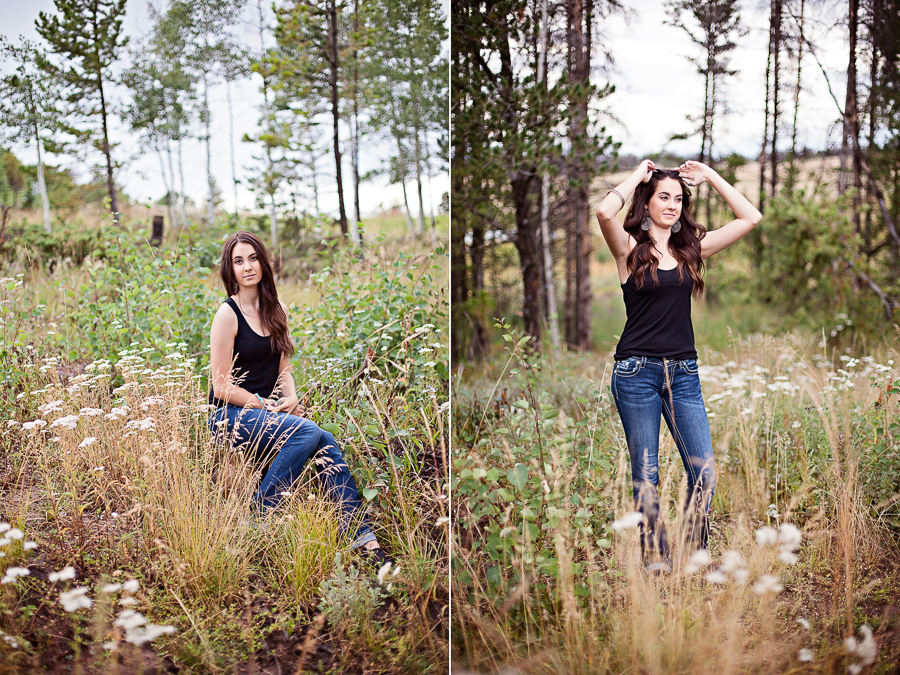 Laramie Wyoming senior portrait session with Amanda.