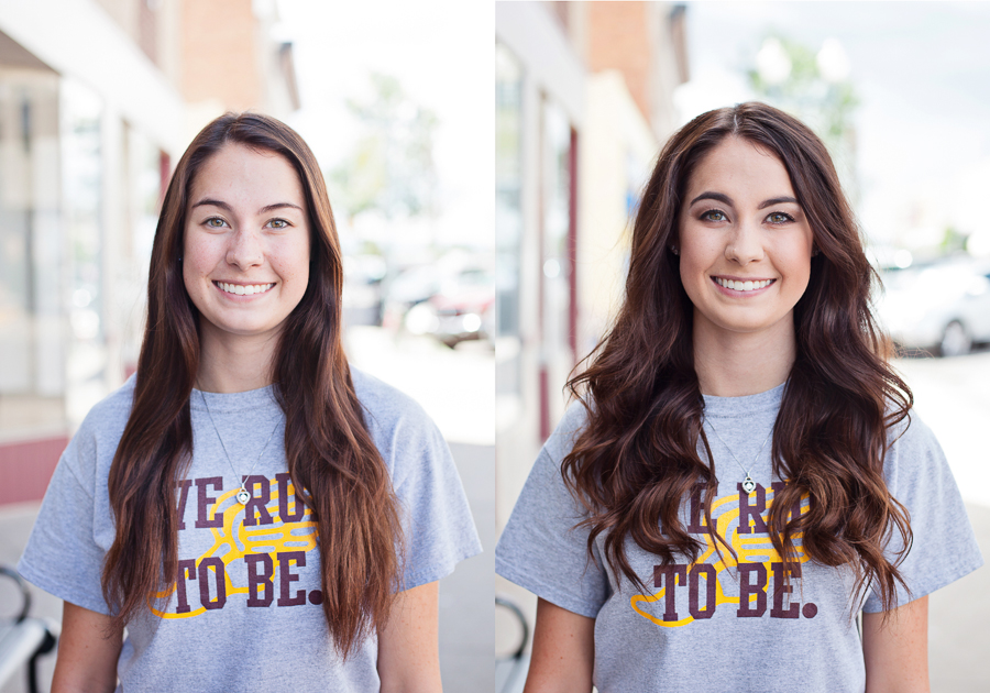Professional hair and makeup in laramie wyoming before and after
