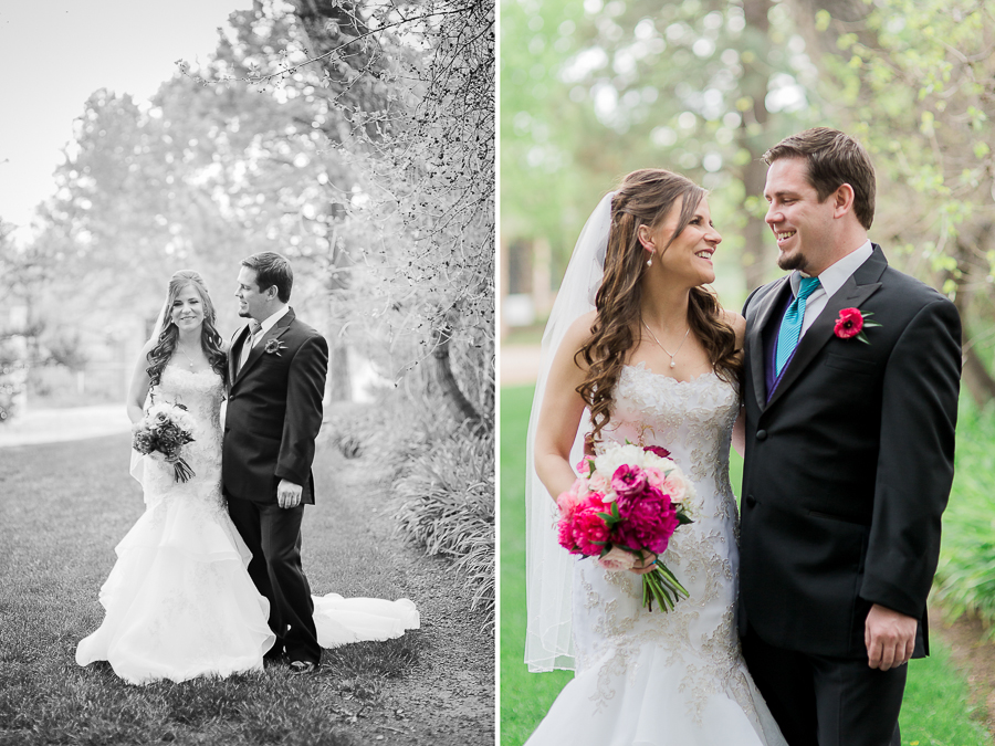 Couple's first look wedding portraiture by Megan Lee Photography