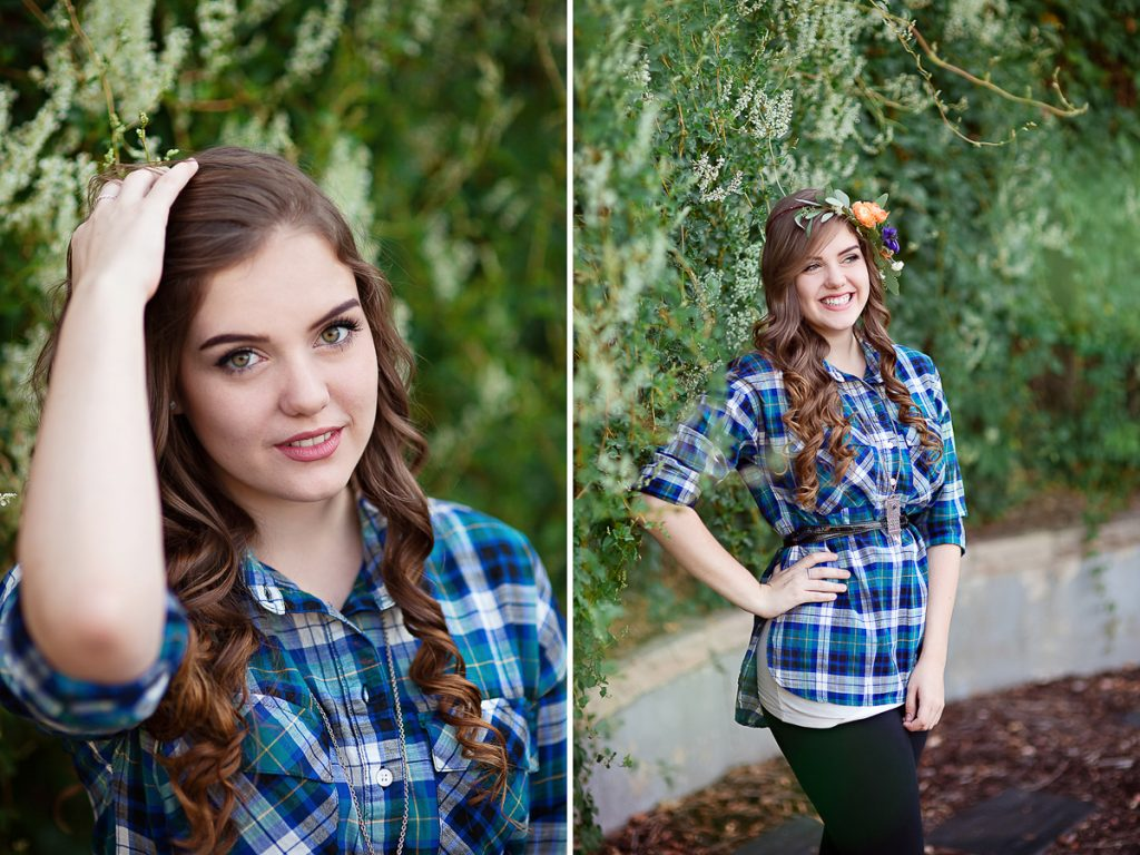 Candid high school senior girl portrait photography session in Laramie Wyoming. Senior portraits by Megan Lee Photography based in Laramie Wyoming.
