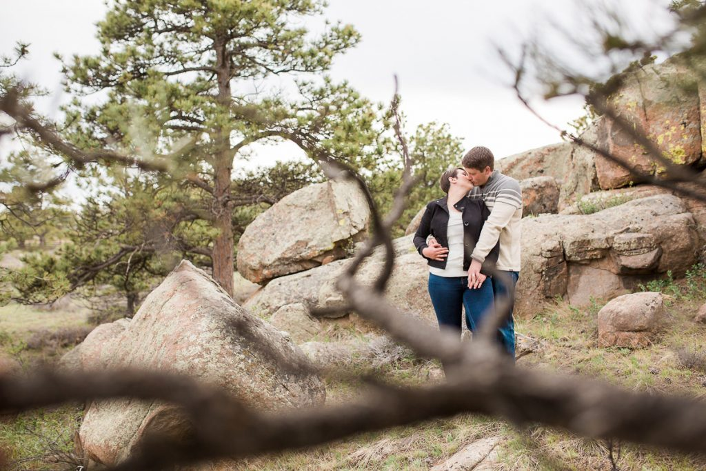These pretty red rock formation and pines can be found throughout Curt Gowdy State Park.