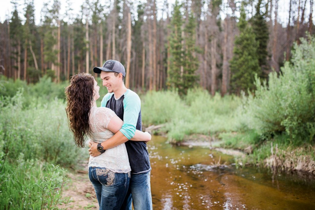 Snowy Range Mountains Wyoming Engagement Photography by Laramie Based wedding photographer