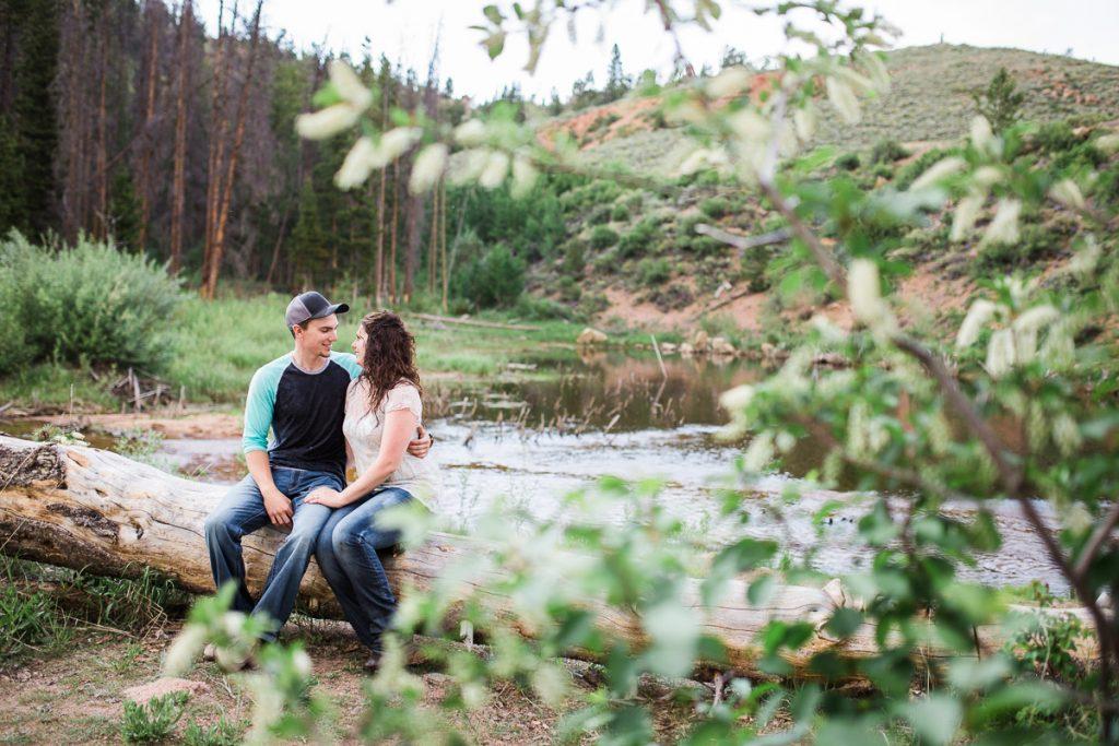 Snowy Range Mountains Wyoming Engagement Photography by Laramie Based wedding photographer