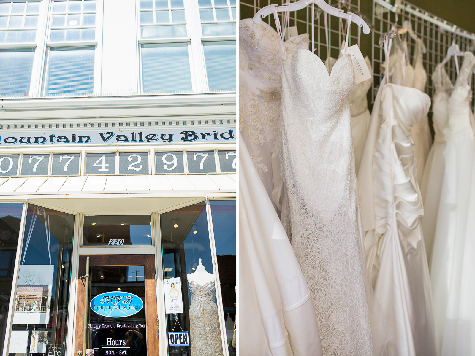 Mountain Valley Bridal in Downtown Laramie Wyoming is no exception. The pretty storefront and beautiful selection inside is perfect for any Wyoming Bride!