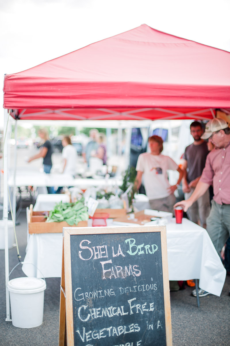 Downtown laramie wyoming farmers market images by commercial photographer based in Laramie.