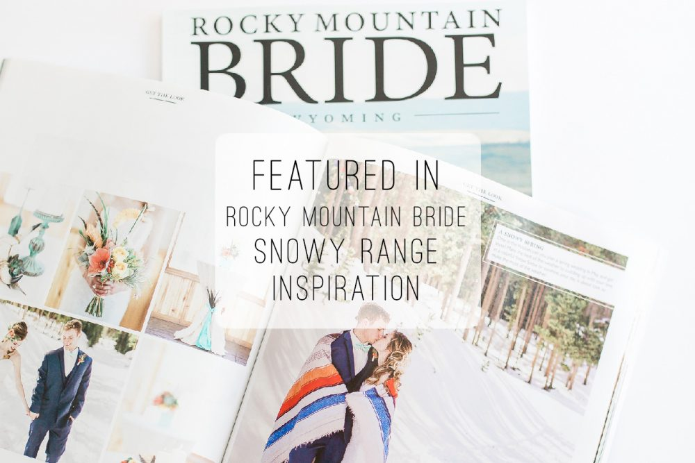 Snowy Range Ski Area wedding inspirational wedding shoot featured on Rocky Mountain Bride.