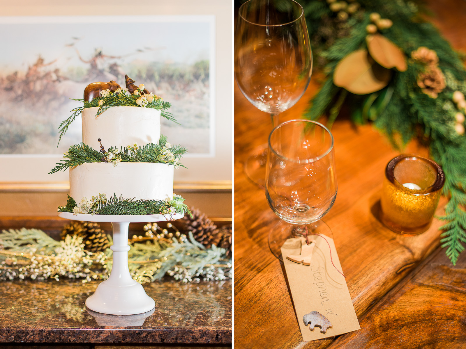 Jackson Hole Wyoming Winter Destination Wedding and Elopement at the Rustic Inn by Wyoming wedding photographer, Megan Lee Photography.