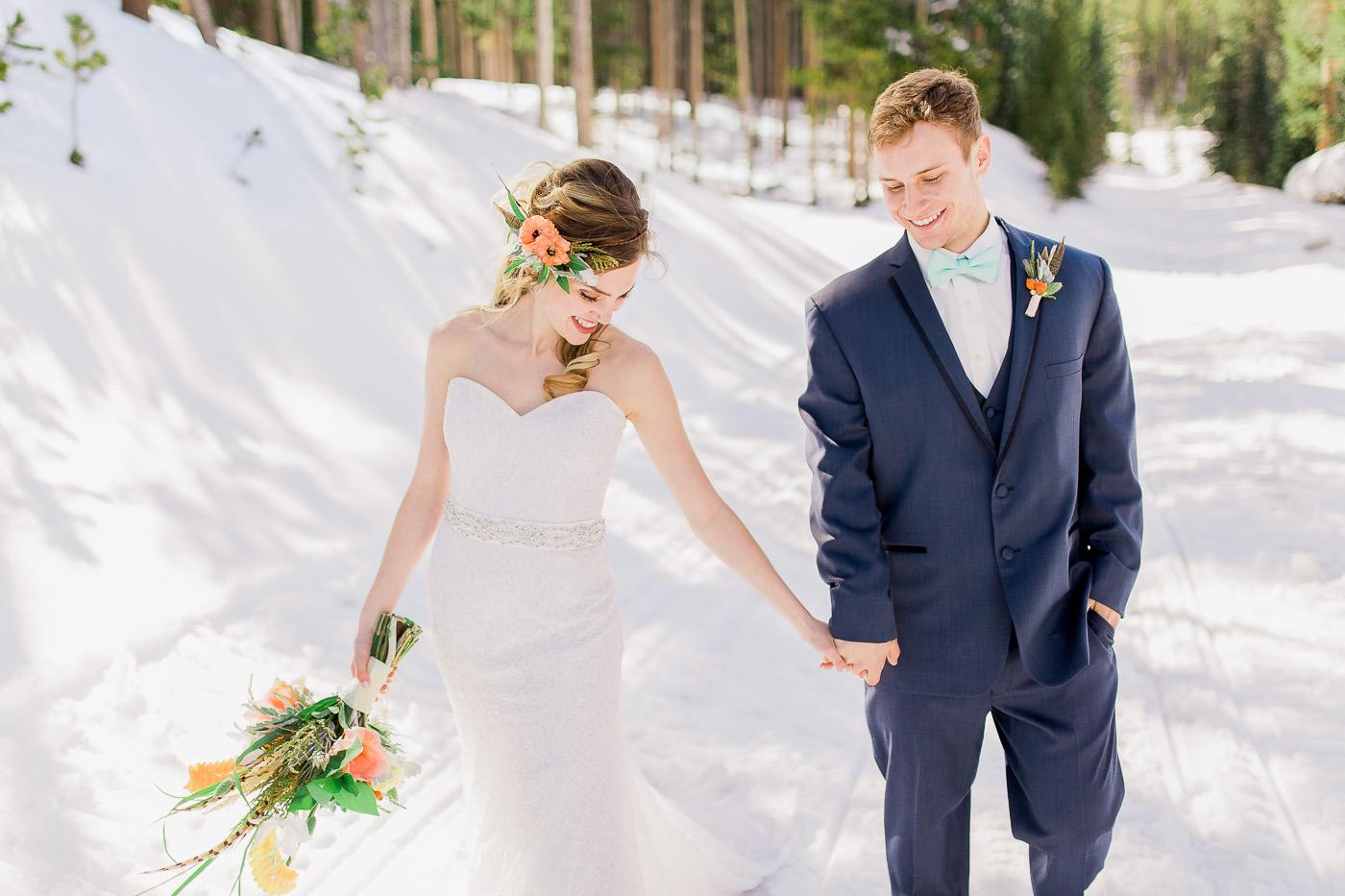Snowy Range Mountains Wyoming Couples Session Photography by Laramie Based wedding photographer