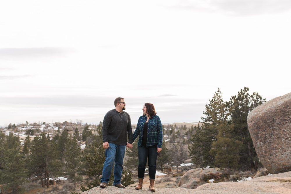 Vedauwoo Engagement sesison by laramie photographer, megan lee photography.