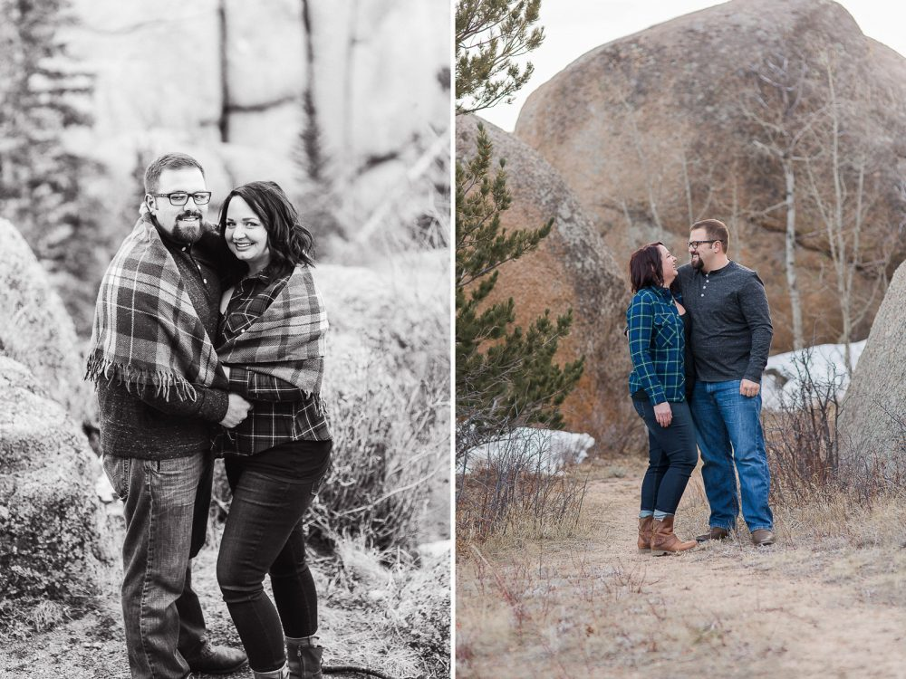 Vedauwoo Engagement sesison by laramie photographer, megan lee photography.