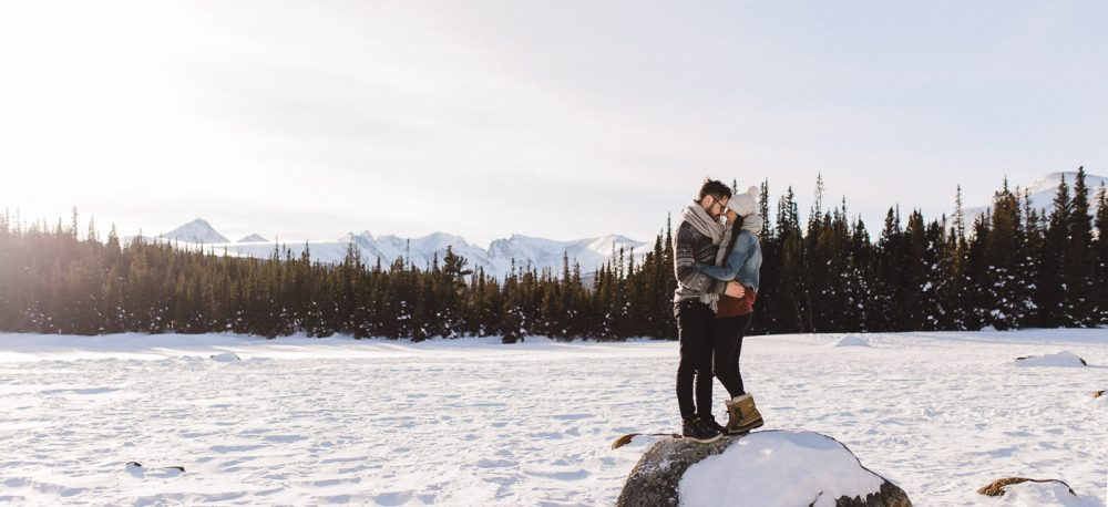 Rocky Mountain National Park engagement session by Colorado and wyoming wedding photographer, Megan Lee Photography