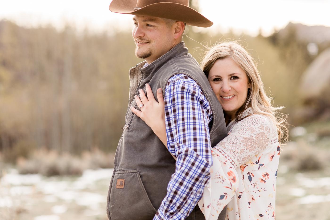 Vedauwoo Medicine Bow National Forest Engagement Photography by Laramie based wedding photographer, Megan Lee Photography.