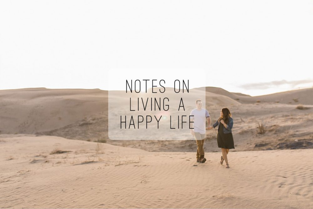 Notes on living a happy life and engagement photography from the sand dunes