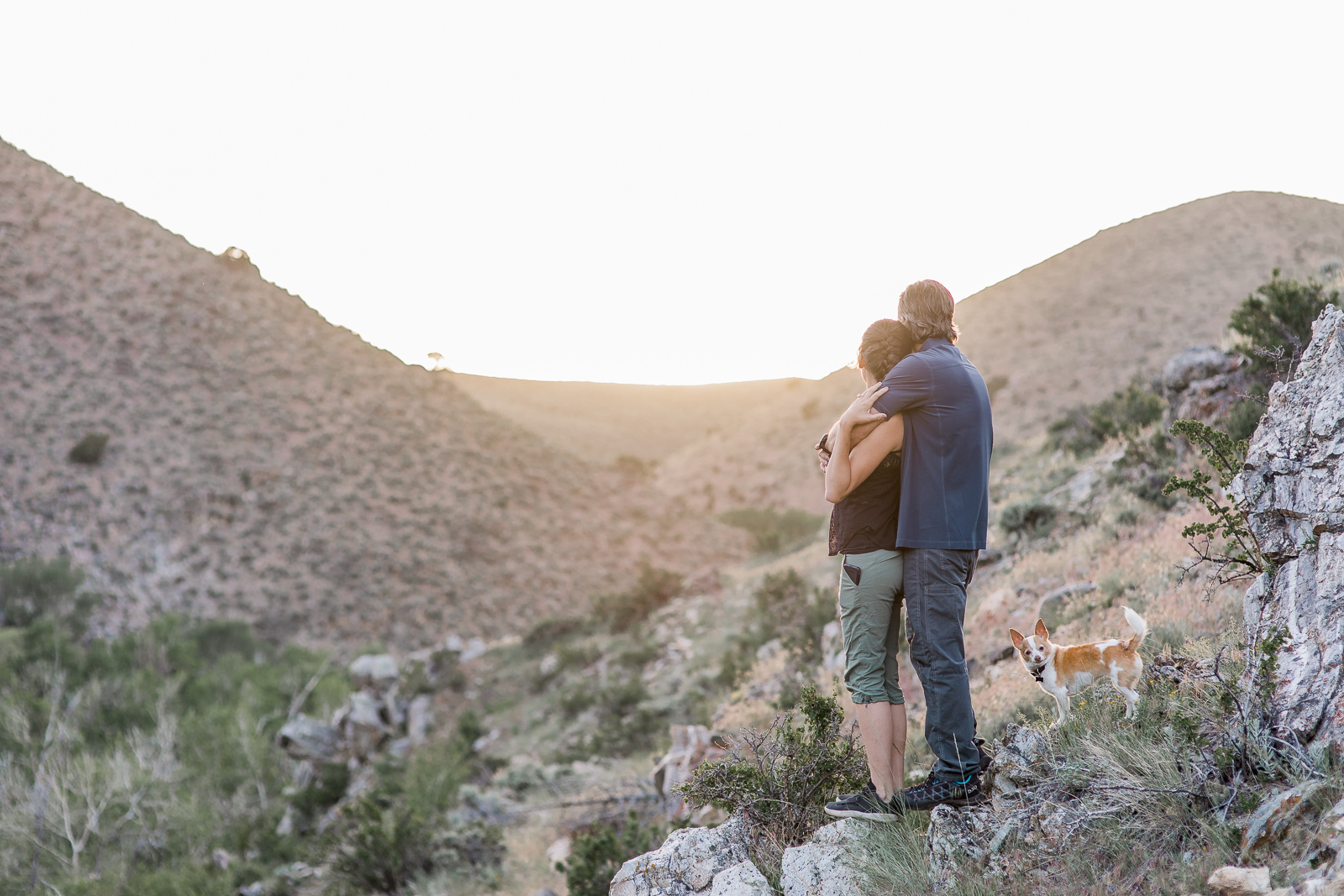 Engagement photography in Wyoming by Laramie based photographer, Encampment Wyoming