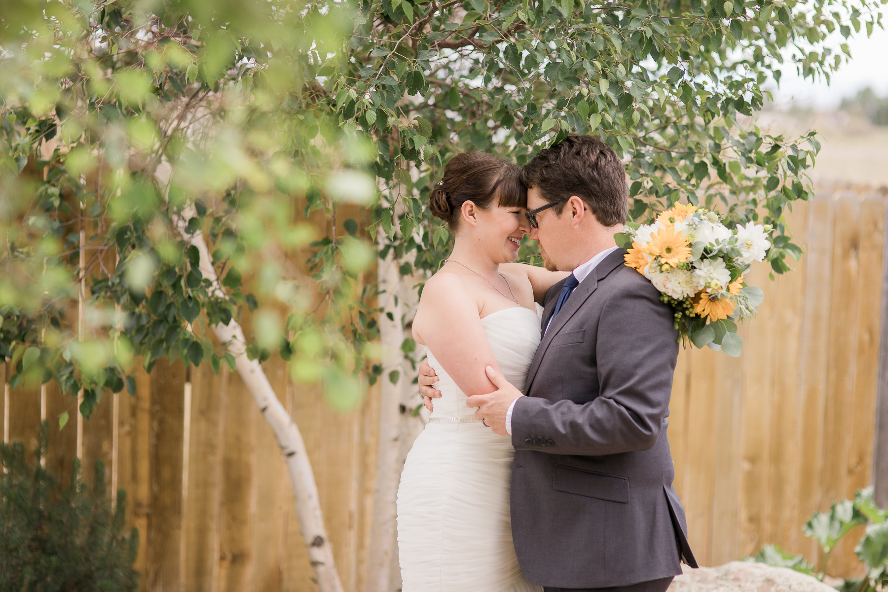 Intimate Backyard Wedding Photography by Laramie Based Wedding Photographer