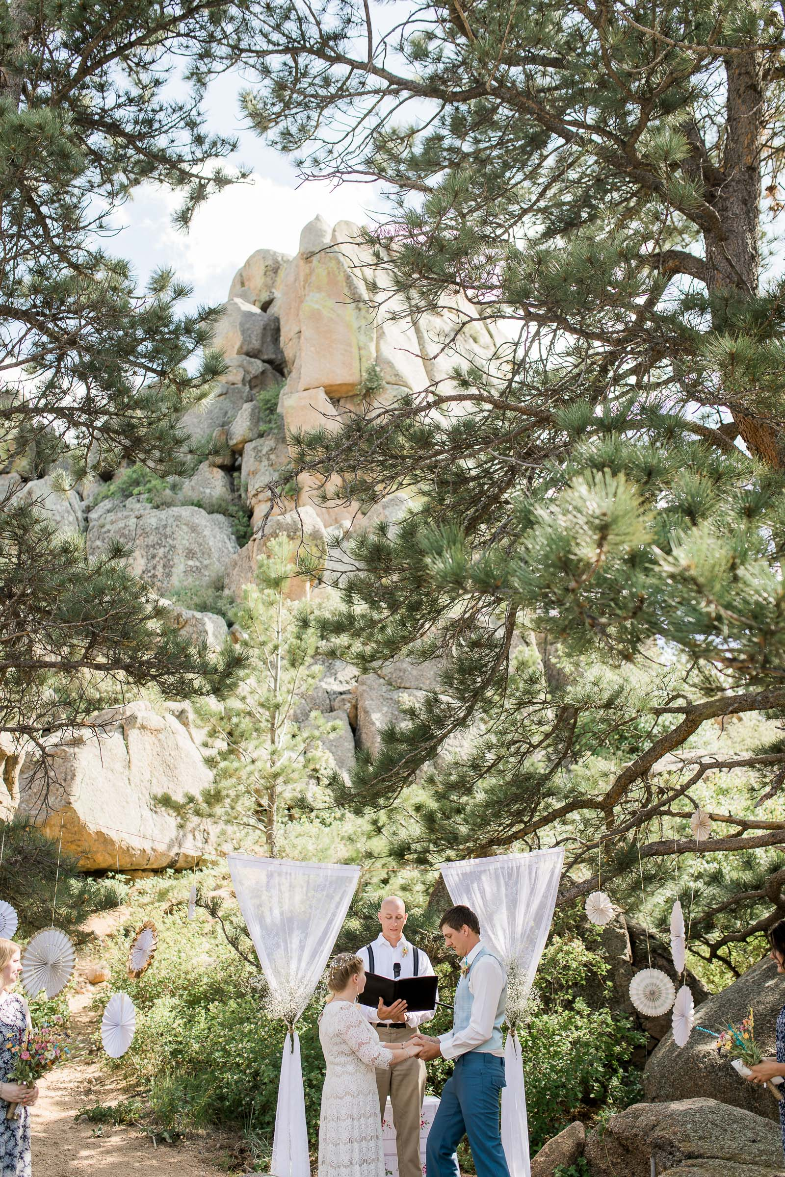 Mountain Wedding Ceremony at Curt Gowdy State Park