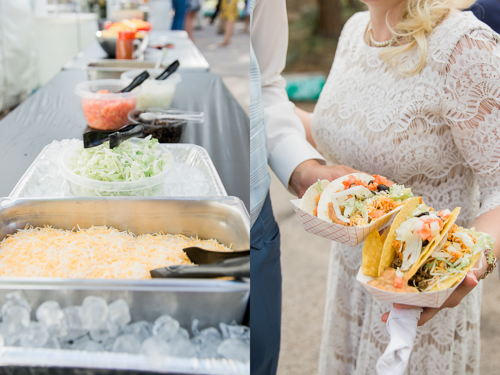 Taco bar at vintage Wyoming wedding by Megan Lee Photography