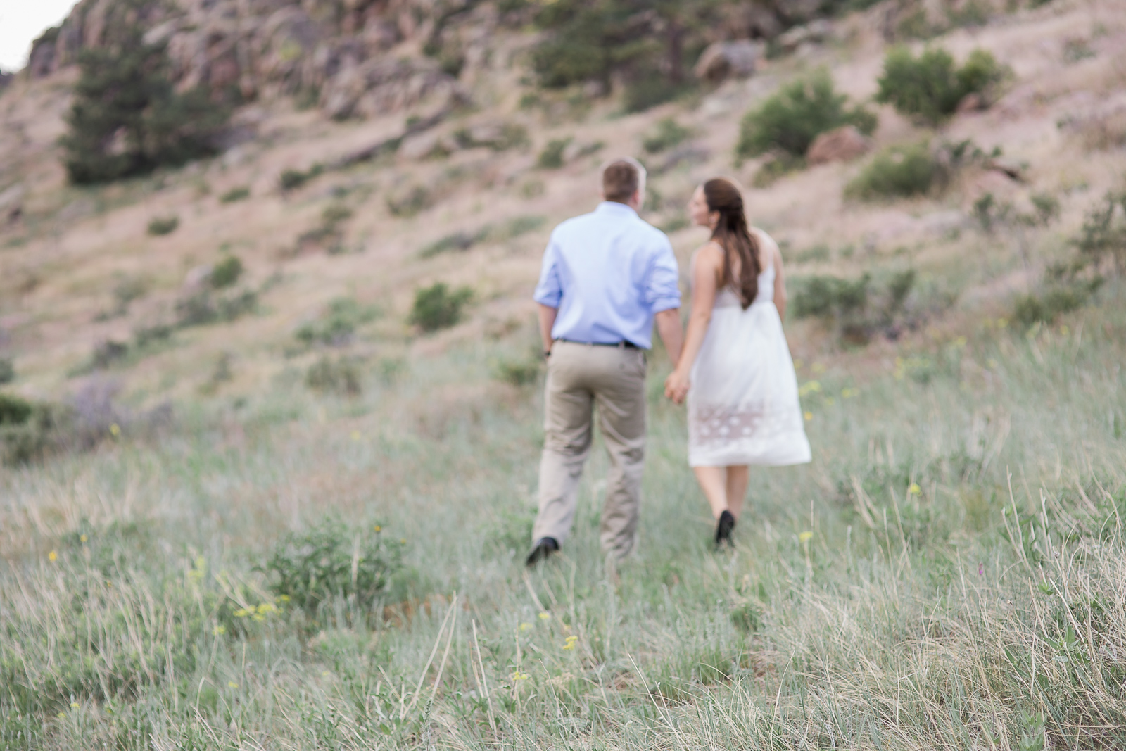 Wyoming mountaintop proposal photography by Laramie based photographer, Megan Lee Photography.
