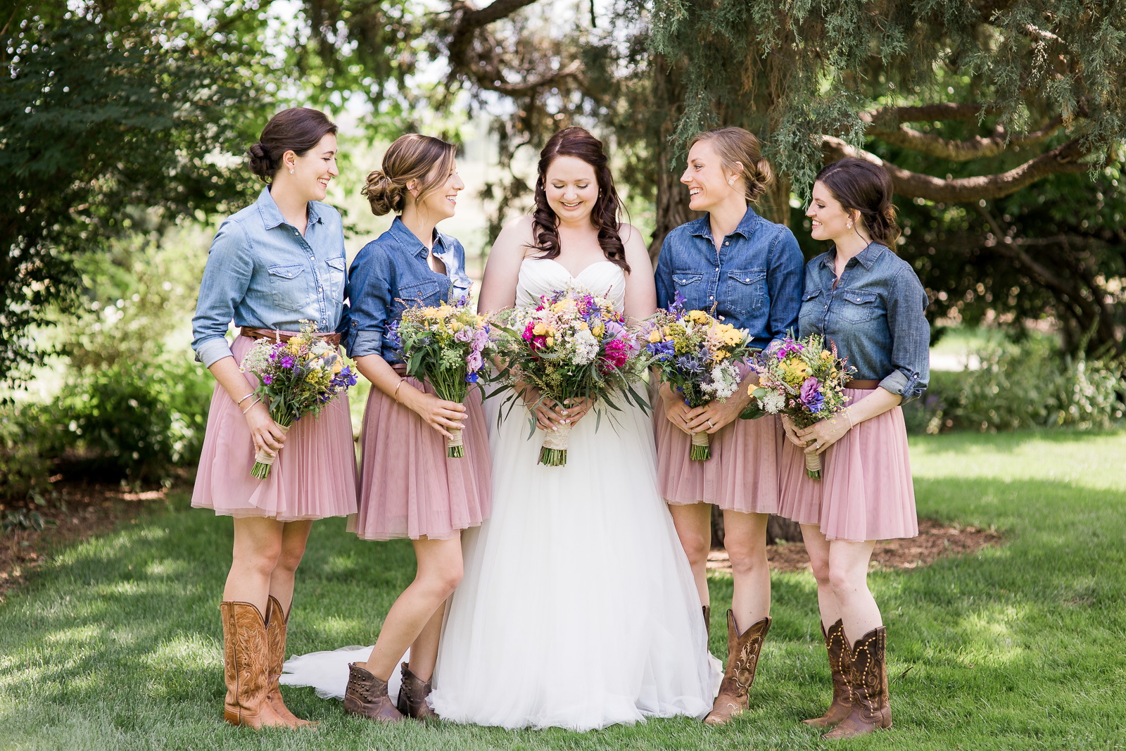 Rustic Bridesmaids Dress by Megan Lee Photography