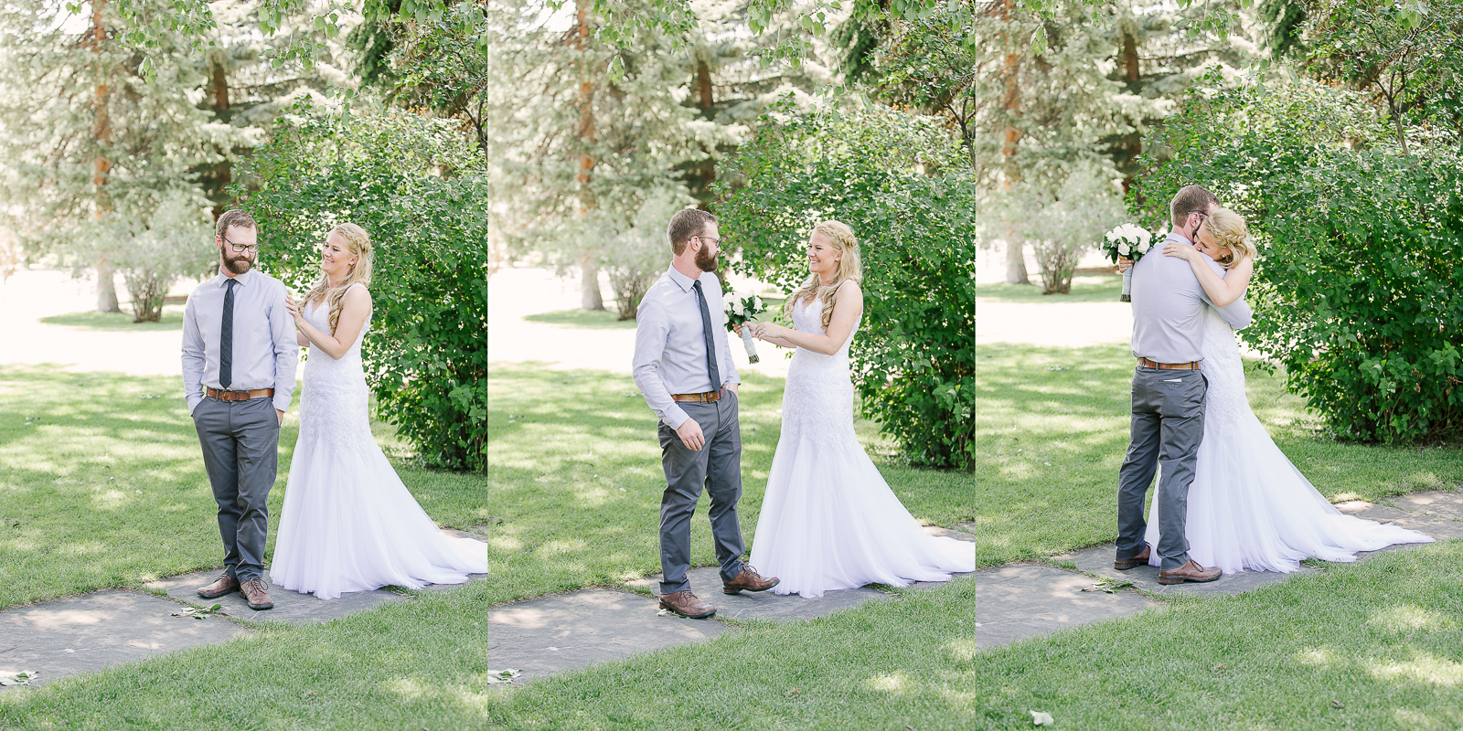 Ivinsion Mansion First Look by Wyoming Wedding Photographer, Megan Lee Photography