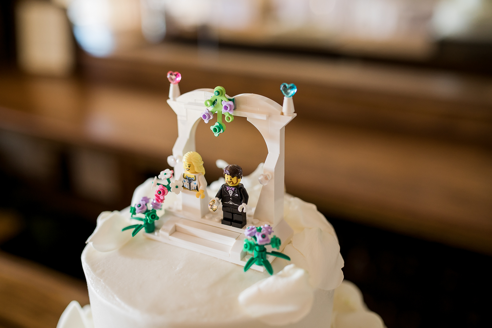 LEGO Cake Topper by Wyoming Wedding Photographer, Megan Lee Photography