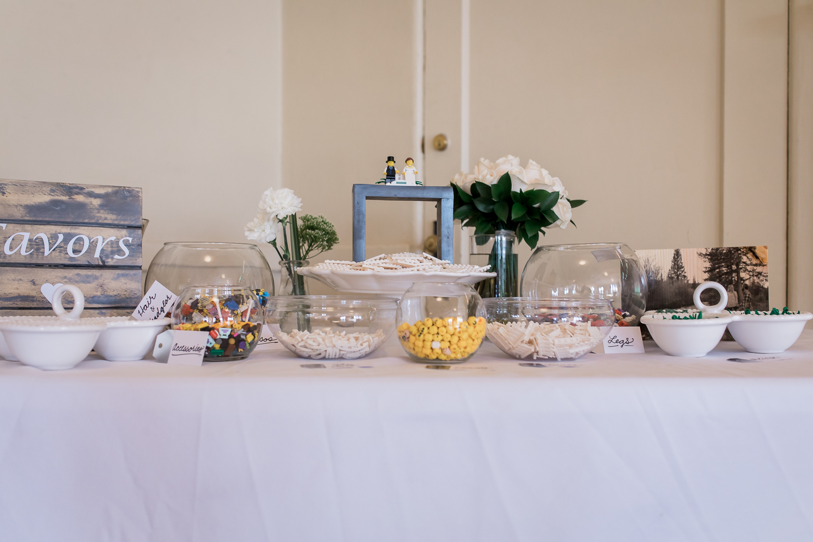 LEGO Party Favors at Wyoming Wedding
