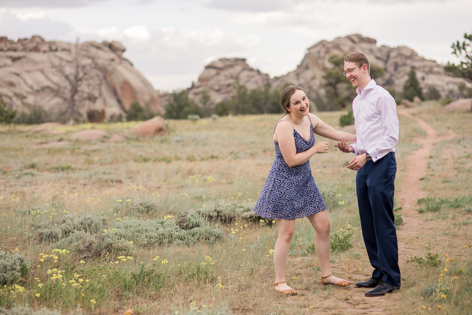 Vedauwoo Campground Engagement Photography by Laramie based Photographer Megan Lee Photography
