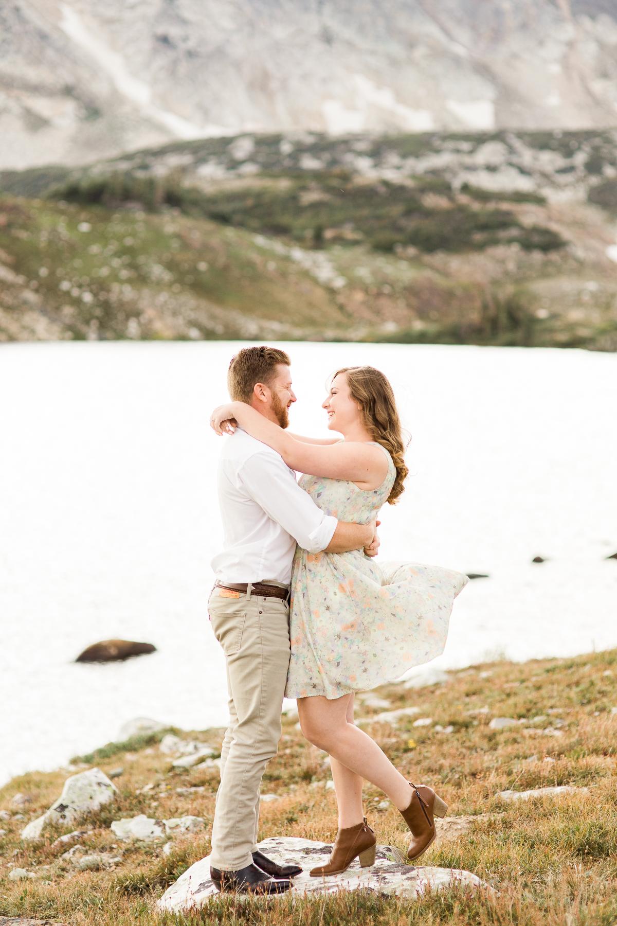 Snowy Range Engagements in Wyoming by Laramie based photographer, Megan Lee Photography