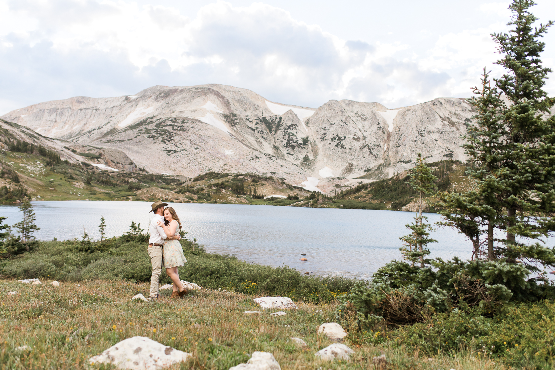 Snowy Range Engagements in Wyoming by Laramie based photographer, Megan Lee Photography