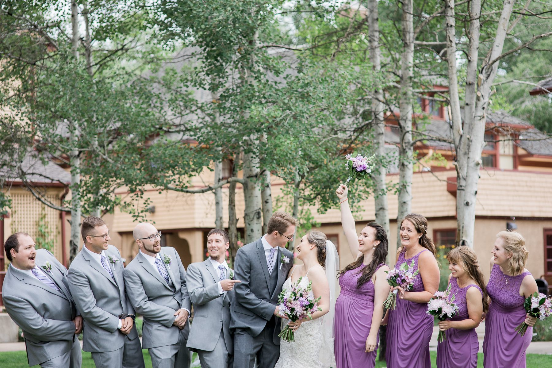 Bridal party at Ivinson Mansion in Wyoming