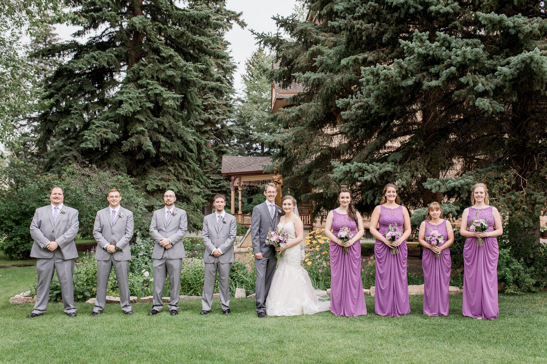 Ivinson Mansion wedding bridal party