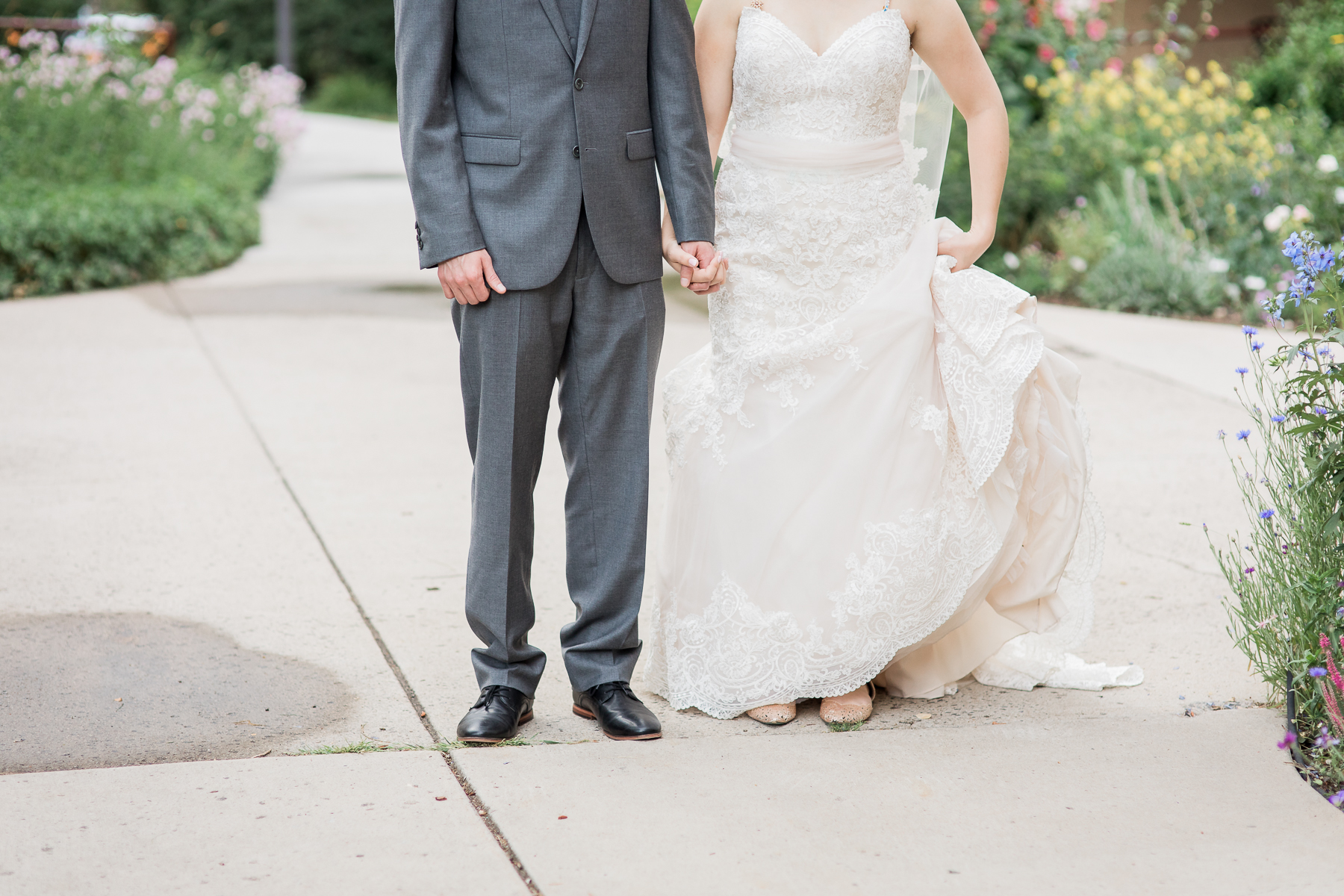 Bride and groom formal photos at Ivinson Mansion