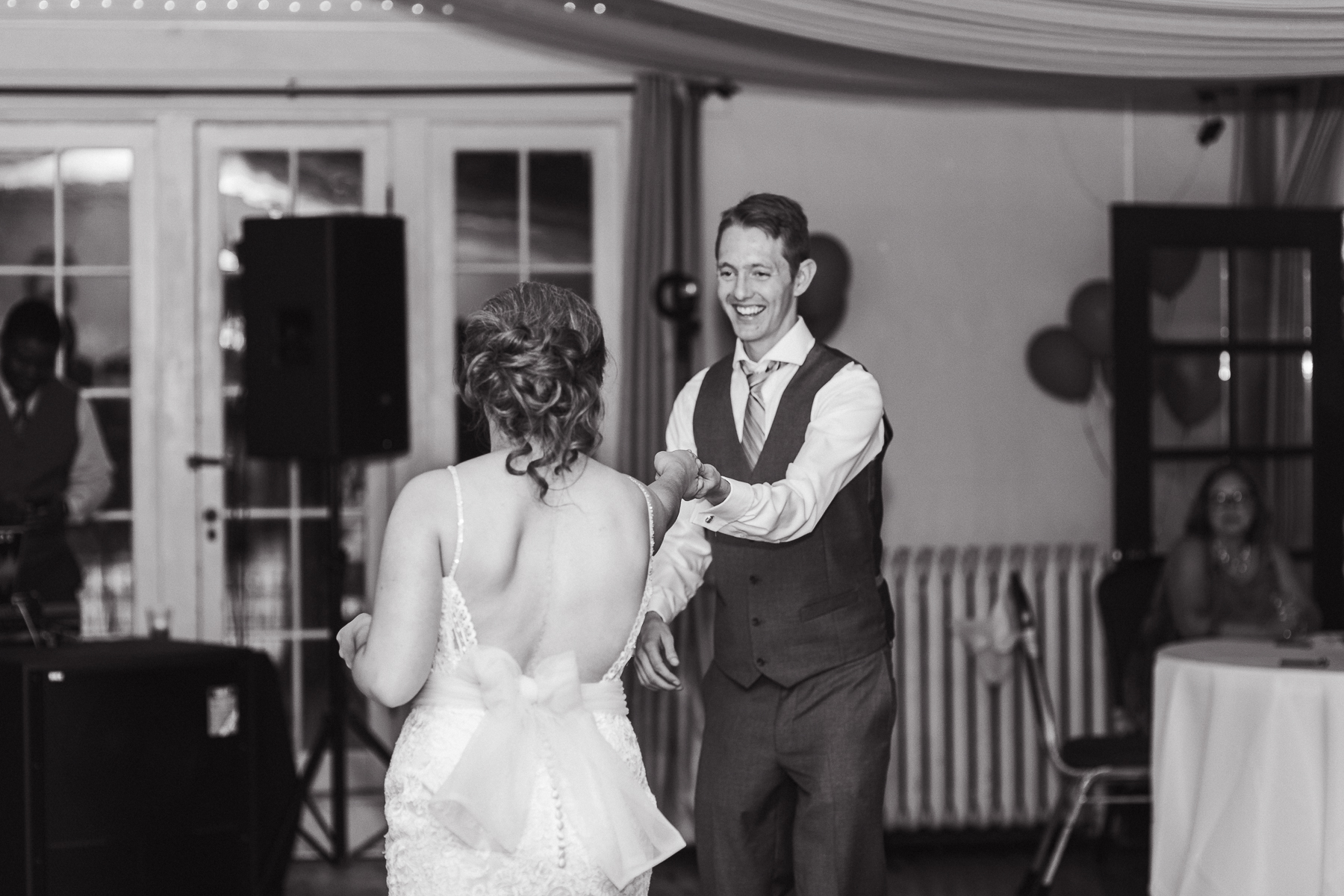 Bride and Groom's first dance at Wyoming wedding