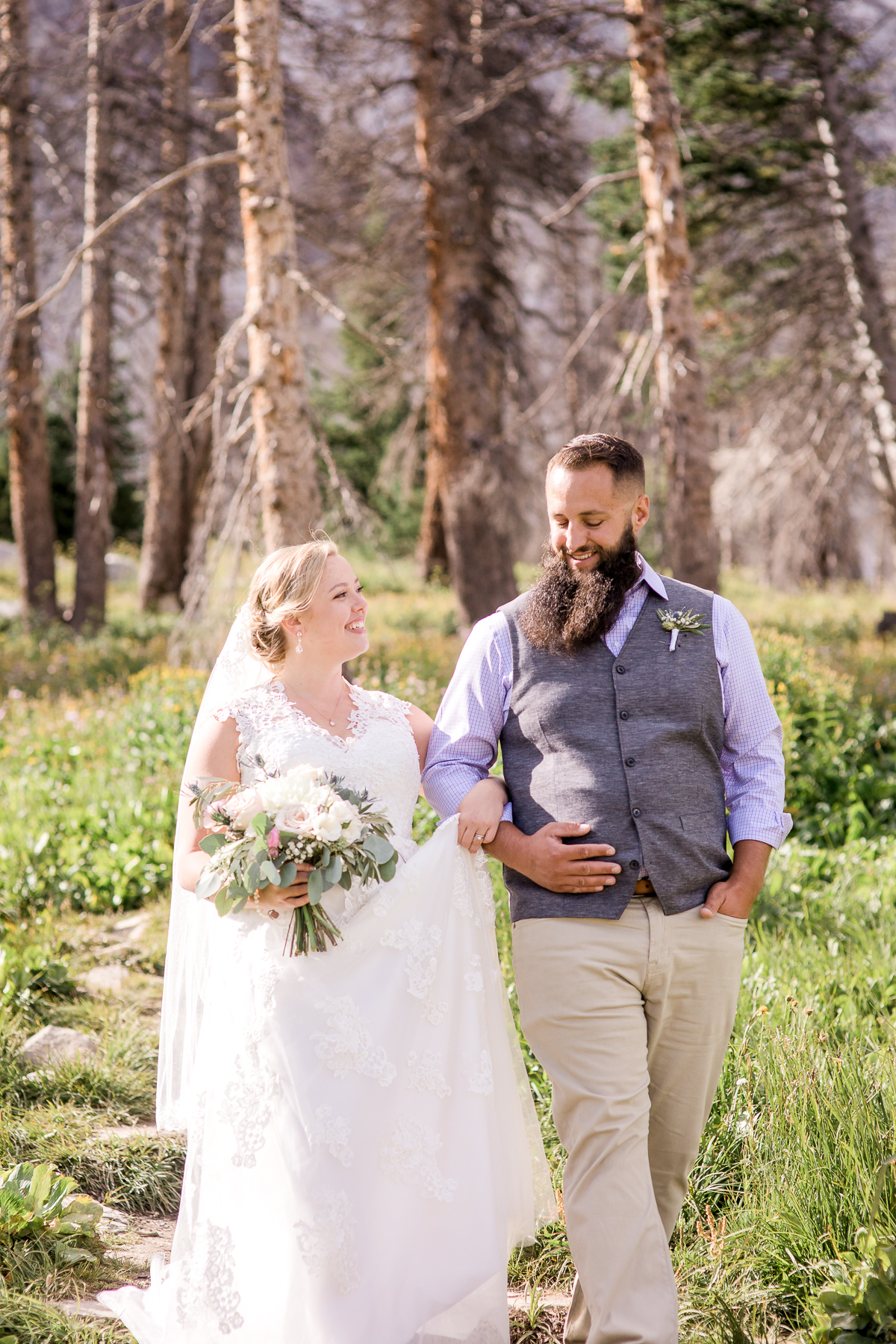 Elopement in The Snowy Range Mountains by Wyoming based photographer, Megan Lee Photography