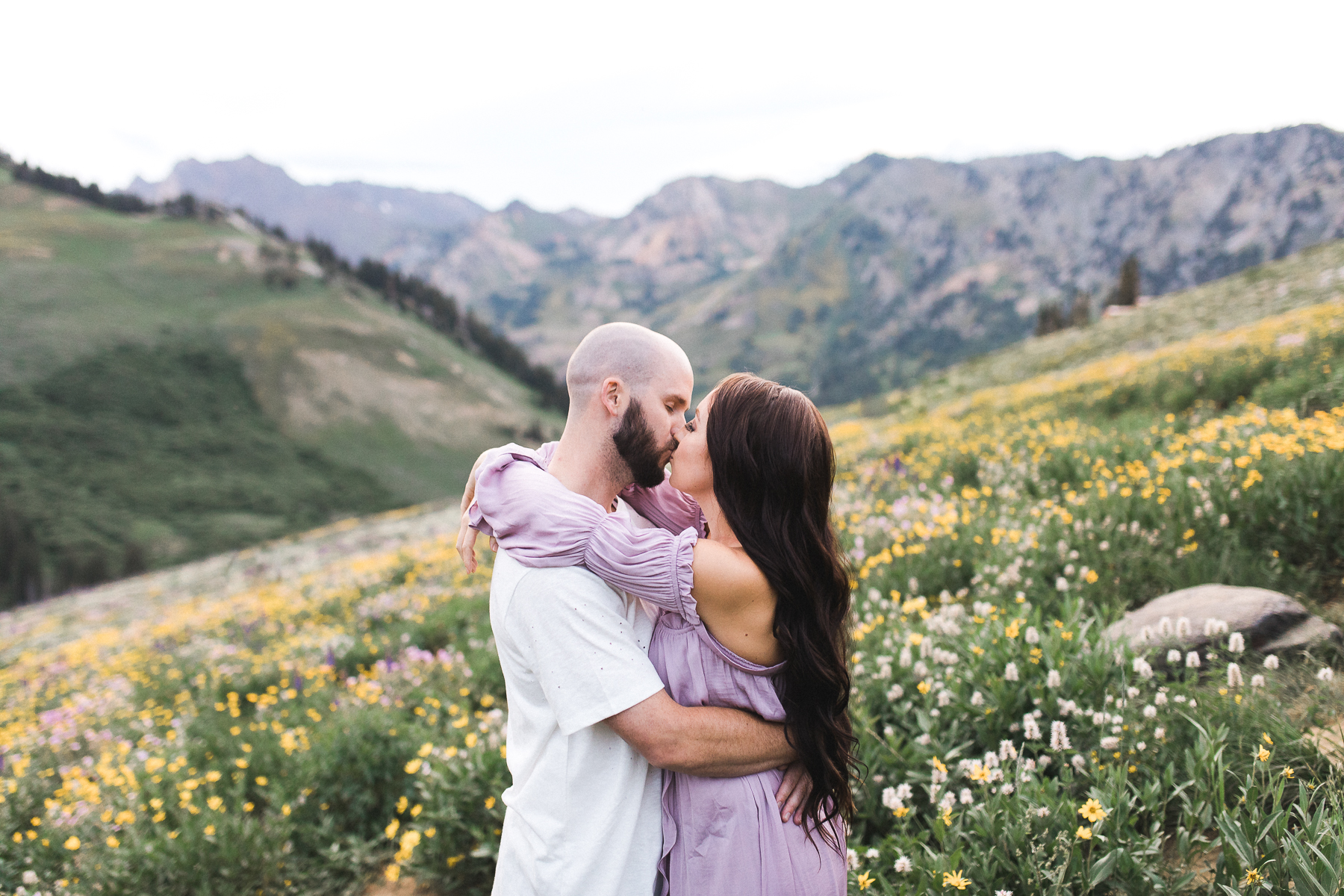 Wyoming mountaintop Elopement Photography by Megan Lee Photography.
