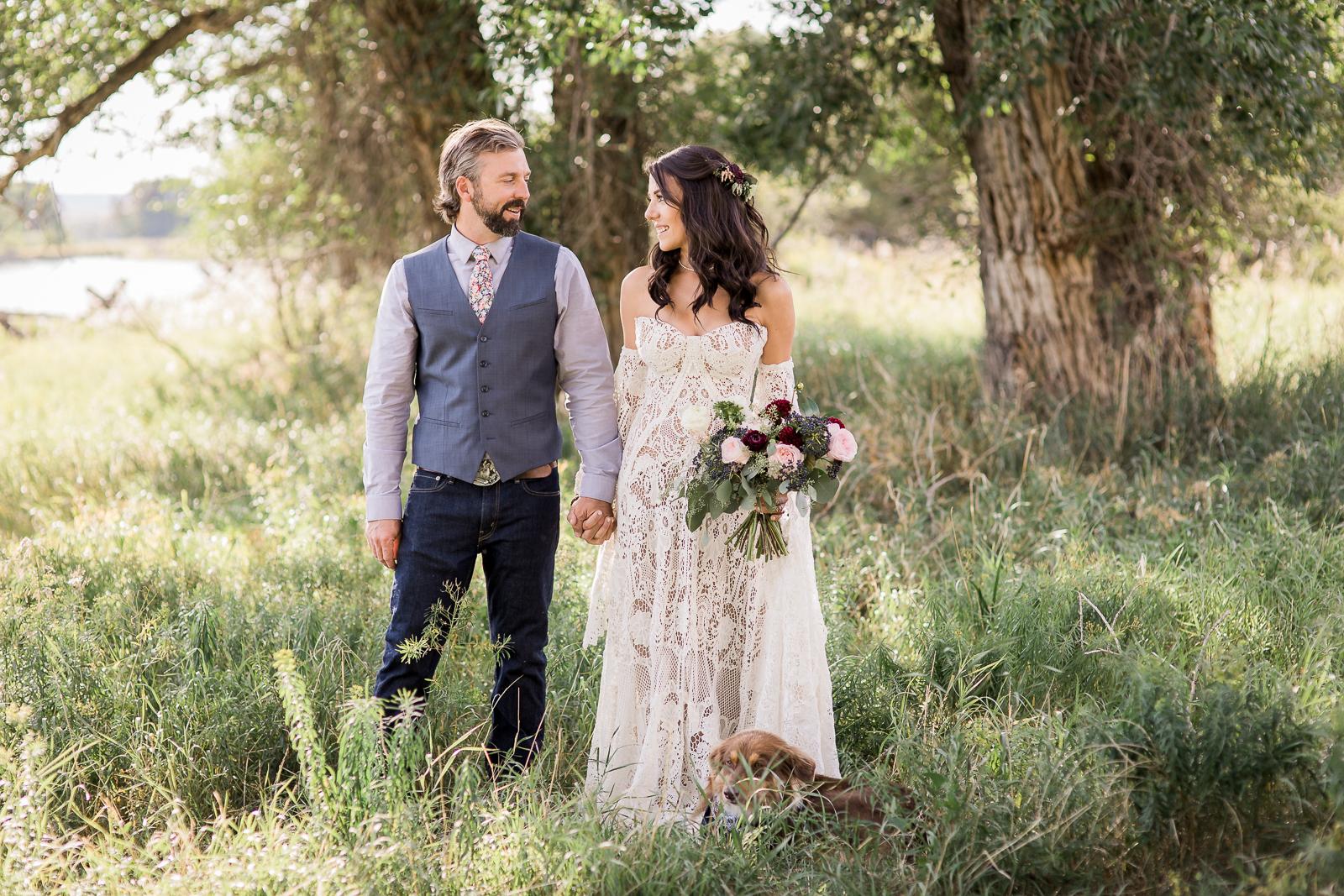 Boho inspired wedding in Saratoga, Wyoming