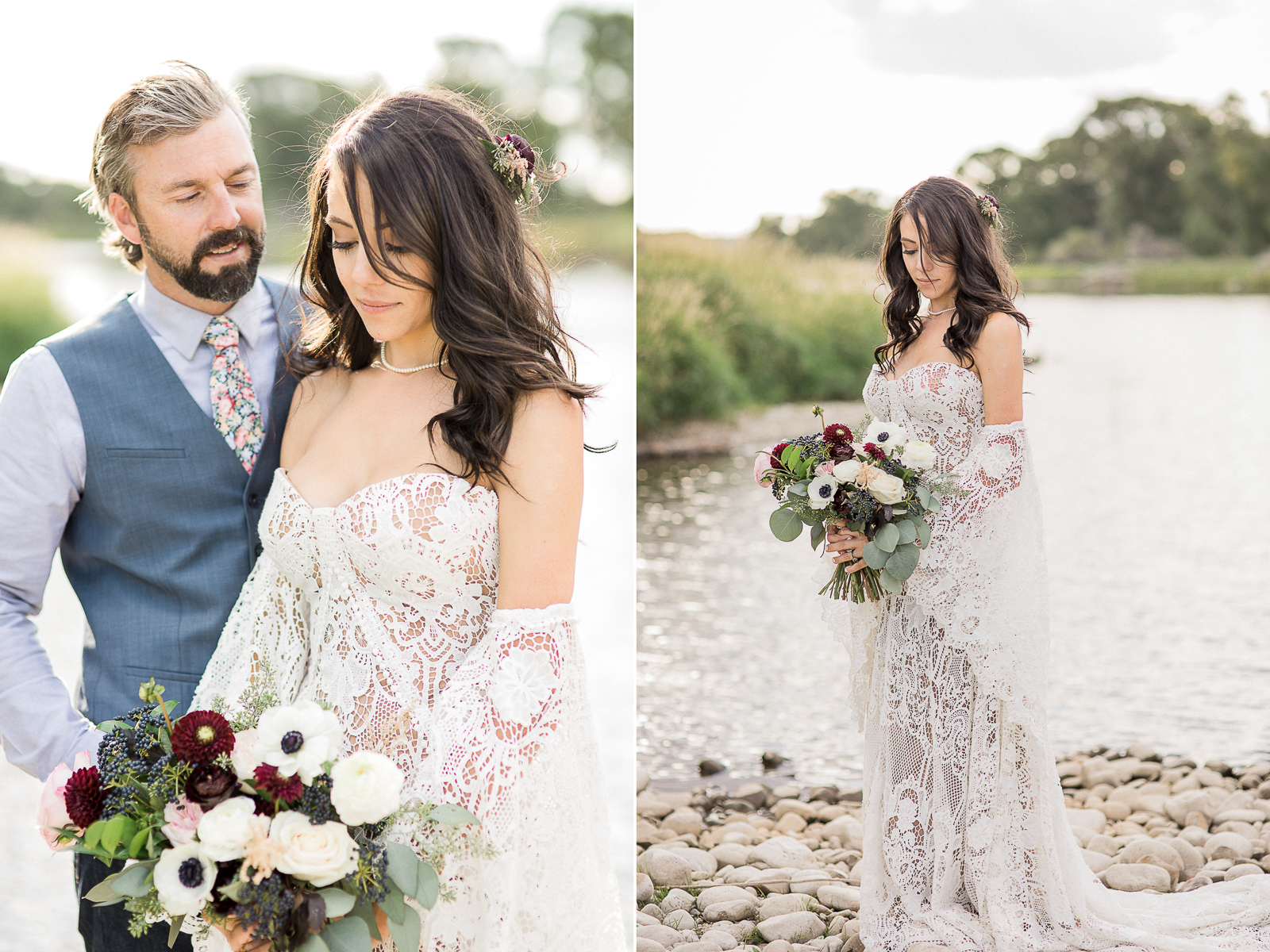 Boho Wedding Portraits by Megan Lee Photography