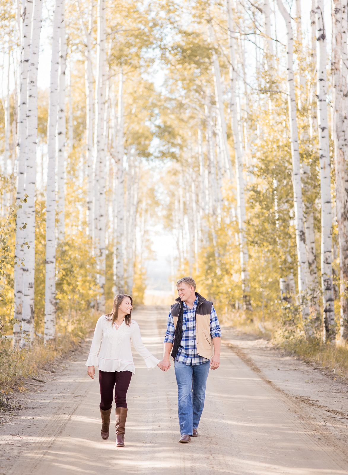 Sierra Madre Fall Engagement by Laramie based photographer, Megan Lee Photography