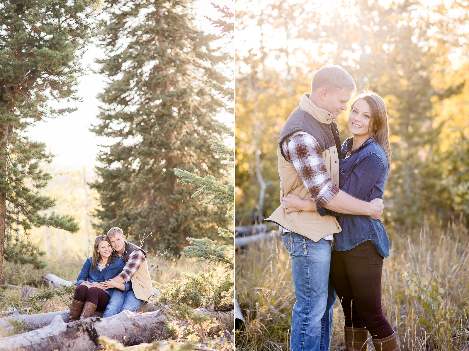 Aspen Alley Fall Engagement by Wyoming photographer, Megan Lee Photography