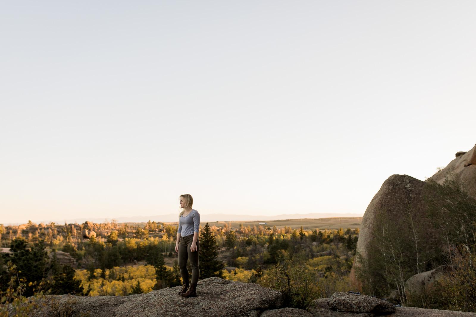 Vedauwoo Senior Portrait Session by Laramie base photographer, Megan Lee Photography