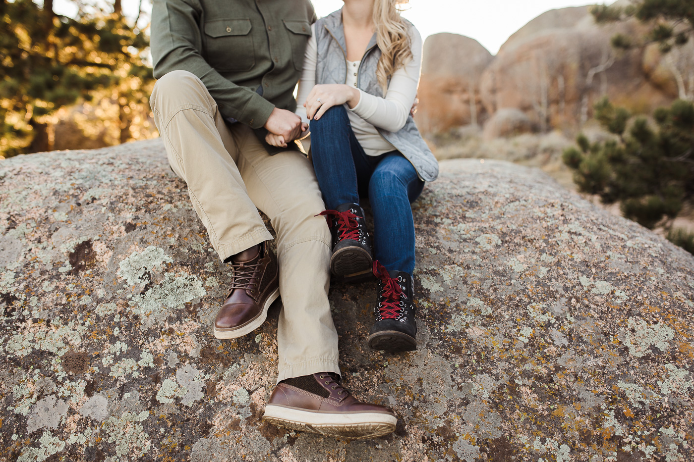 Fall Engagement Photos at Vedauwoo in Laramie by Megan Lee Photography