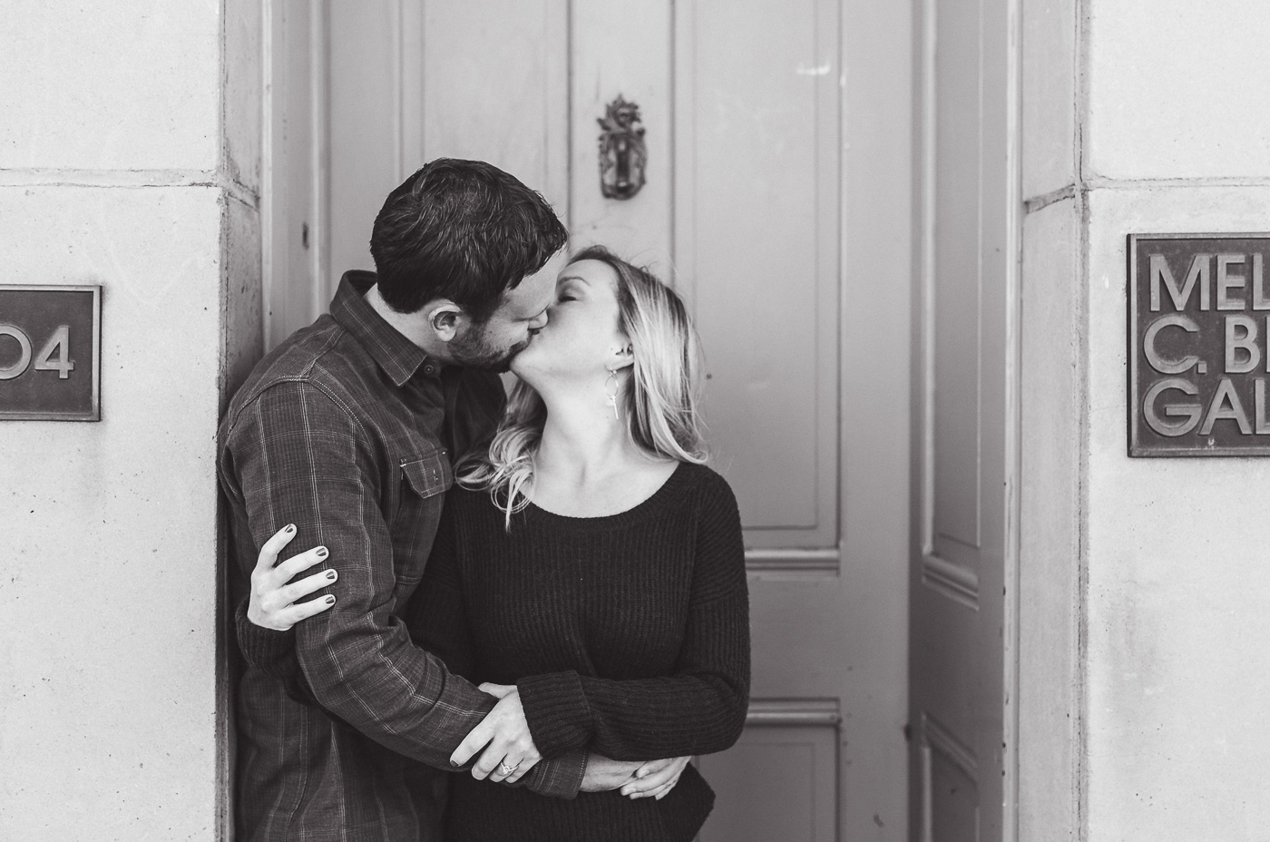Downtown Laramie engagement session by Megan Lee Photography