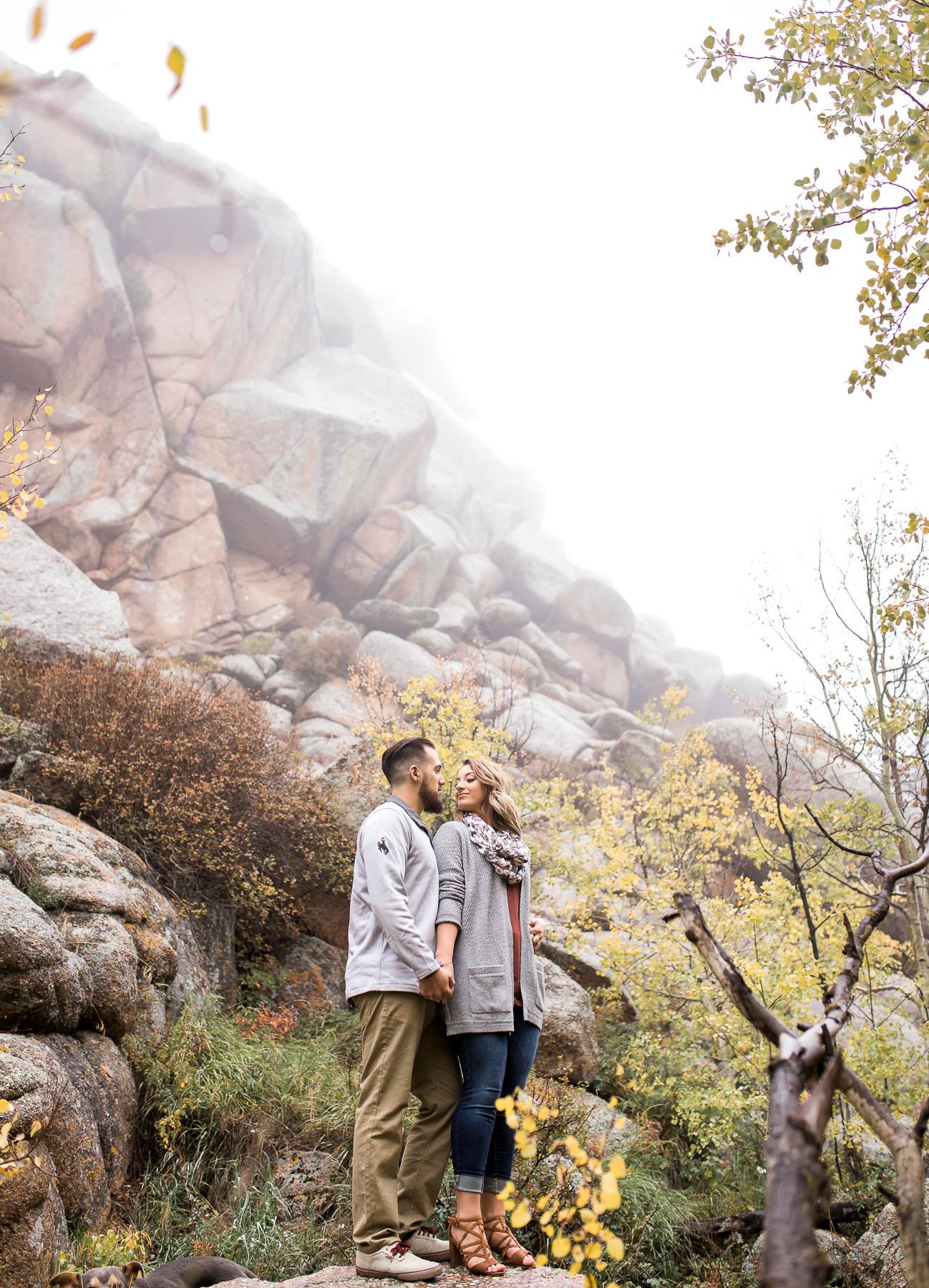 Fall engagement session in Vedauwoo in Medicine Bow National Forest near Cheyenne, Wyoming Couples Photography Session