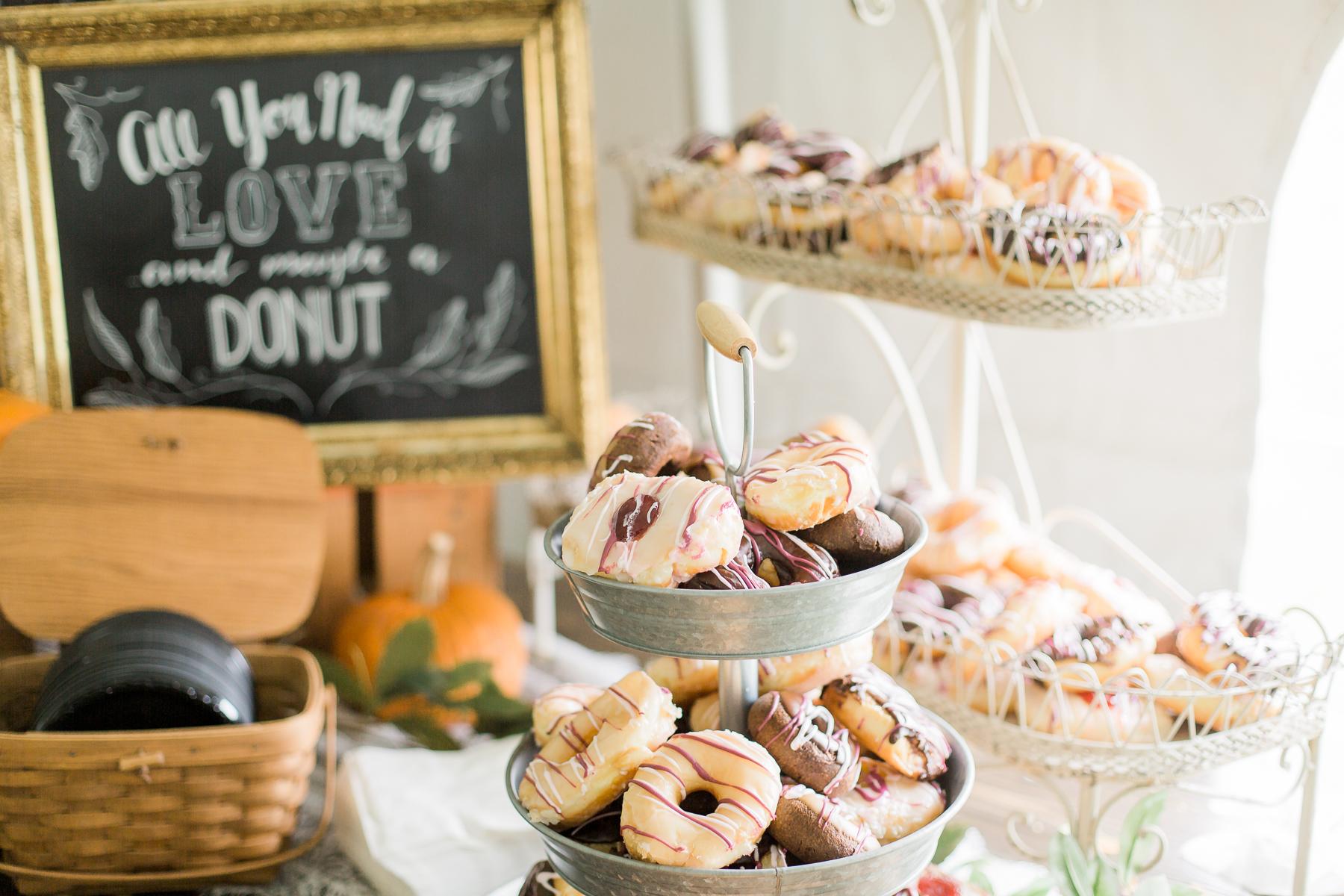 Donut Bar at Wyoming Wedding