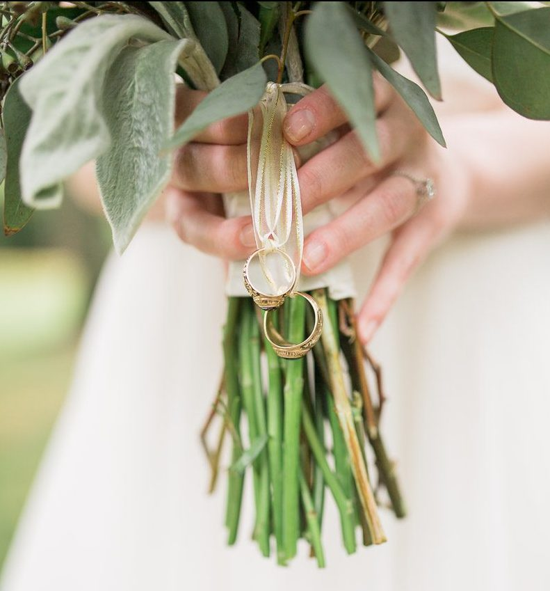 Bridal bouquet details by Wyoming wedding photography, Megan Lee Photography